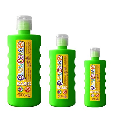 צבעי גואש טמפרה ירוק |  Playcolor Liqüid - Liquid poster paint  DARK GREEN 1000ml - 500ml - 250ml