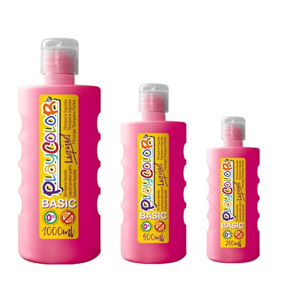 צבעי גואש טמפרה ורוד | Playcolor Liqüid - Liquid poster paint BASIC  MAGENTA 1000ml - 500ml - 250ml