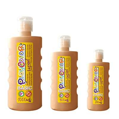 צבעי גואש טמפרה אוקר | Playcolor Liqüid - Liquid poster paint BASIC FLESH 1000ml - 500ml - 250ml